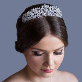 Serre-tête diadème princesse en strass pour mariage Iris