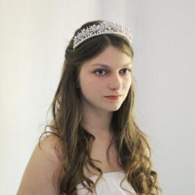 Tiare Diadème Mariage Cristal Swarovski et Perles Marianne