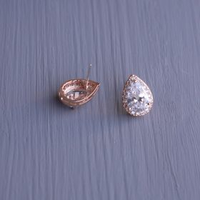 boucles d'oreilles mariage or rose 02