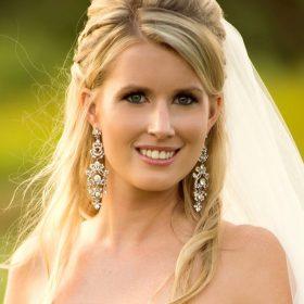 boucles d'oreilles mariage princesse