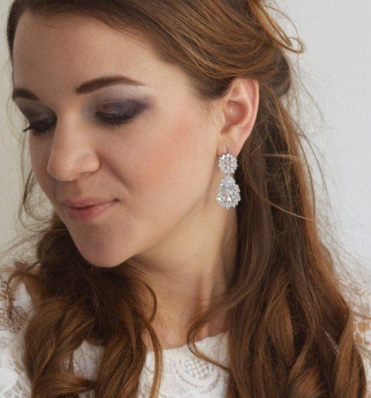 boucles d'oreilles mariage diamante 2