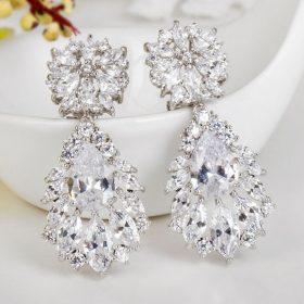 boucles d'oreilles mariage diamante 3