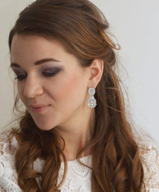 boucles d'oreilles mariage diamanté 4