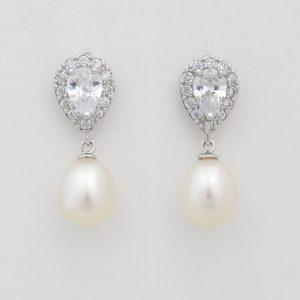 boucles d'oreilles perles naturelles cristal