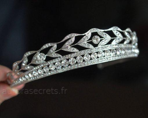diadème mariage cristaux swarovski
