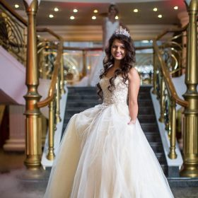 Diadème serre-tête mariage orné d'oxydes de zirconium Alexandra 2