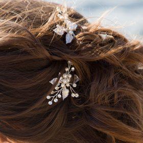Pics chignon mariage perles et strass