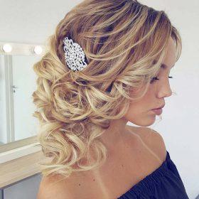Peigne coiffure mariage en cristal sur monture argenté