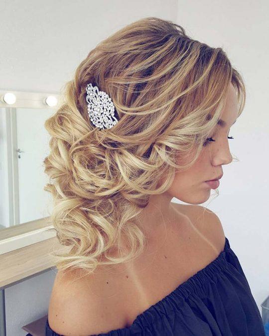 """Peigne coiffure mariage en cristal sur monture argenté """"Jennifer"""""""