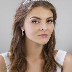 Serre-tête mariage, diadème incrusté de cristaux Swarovski