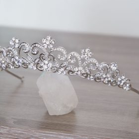 Serre-tête mariage, diadème incrusté de cristaux Swarovski Cindy