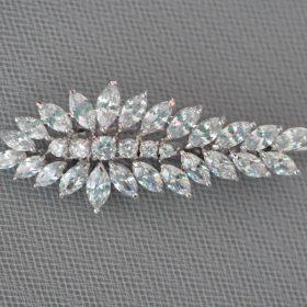 barrette mariage diamante