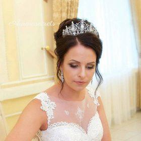 diadème mariage oriental ornée de faux diamants 4