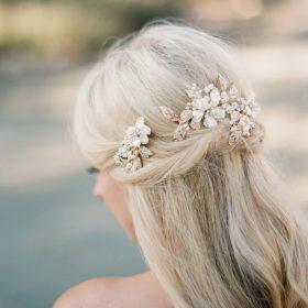 Bijoux cheveux mariage perles et cristal