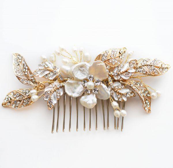 peigne-cheveux-mariage-dore-cristal-et-perles