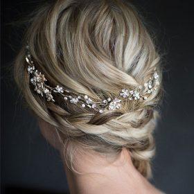 vigne cheveux mariage finition argentée