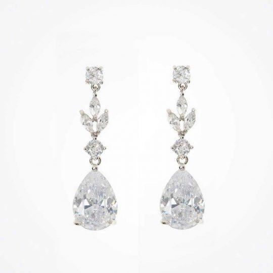 Boucles d'oreilles mariage cristal Swarovski « Éléonore »