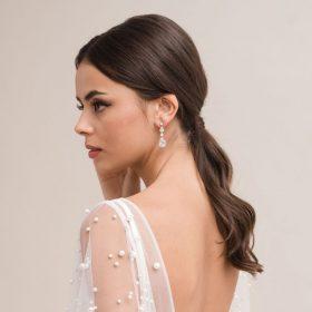 Boucles d'oreilles mariage cristal Swarovski Éléonore