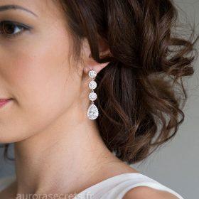 Boucles d'oreille mariage élégantes et raffinées