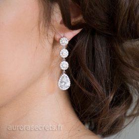 Boucles d'oreille mariage élégantes