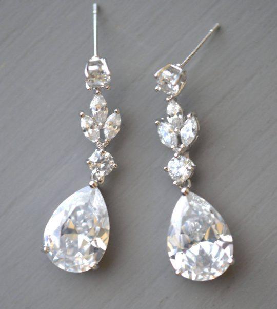 boucle oreille mariage cristal 3