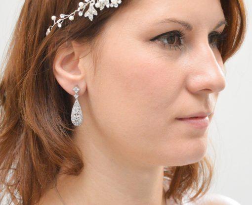 boucles d'oreille mariage strass 3