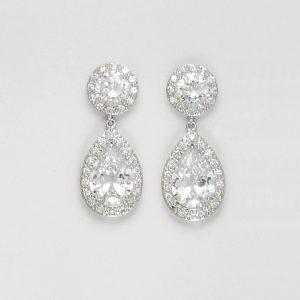 boucles oreilles classiques diamant