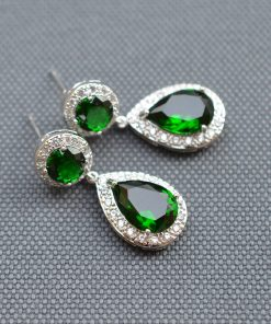 boucles oreilles colorees vert emeraude