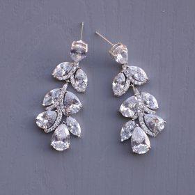boucles d'oreilles feuilles cristal 2