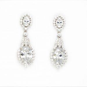 boucles d'oreilles chandelier diamant 2