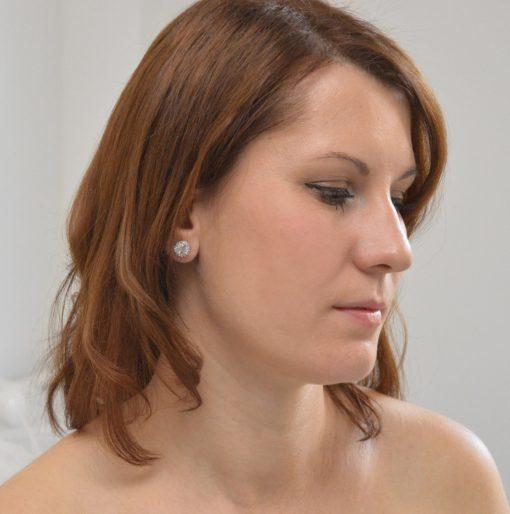 boucles d'oreilles mariage clous simples 2