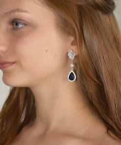 boucles d'oreilles mariage originales bleu 4