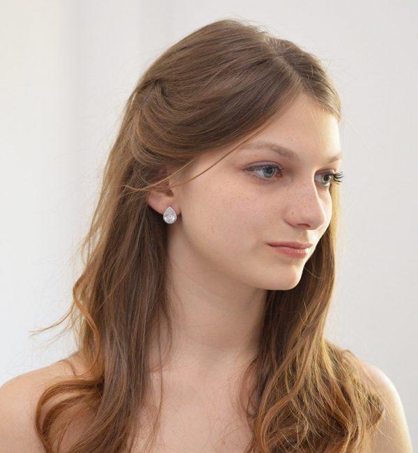 boucles oreilles mariage poires simples 5
