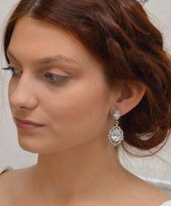 boucles d'oreilles mariage rétro vintage 3
