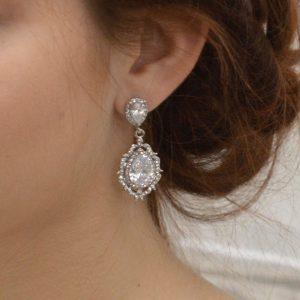 boucles d'oreilles mariage rétro vintage