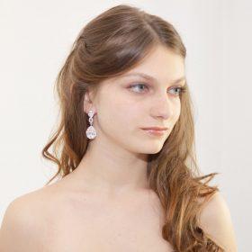 boucles d'oreilles mariage vintage strass 2