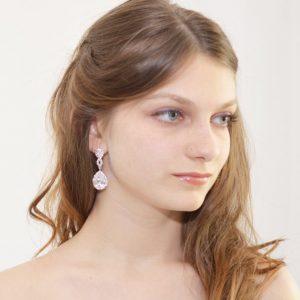 boucles d'oreilles mariage vintage strass