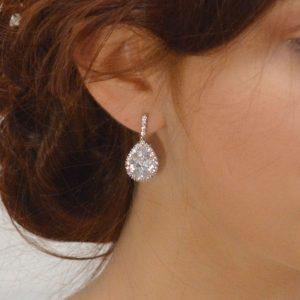 boucles d'oreilles mariée