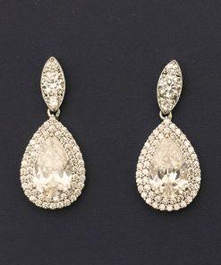 boucles oreilles mariée cristal luxe