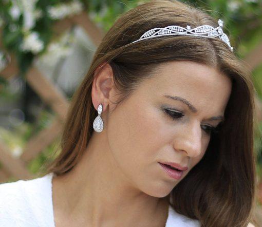 boucles oreilles mariée cristal luxe 2