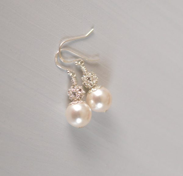 boucles oreilles perle swarovski strass 2