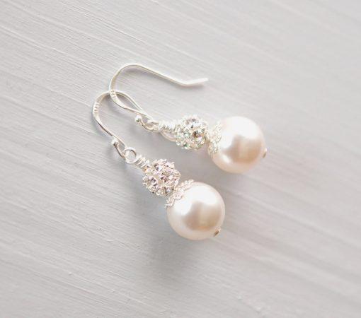 boucles oreilles perle swarovski strass 3