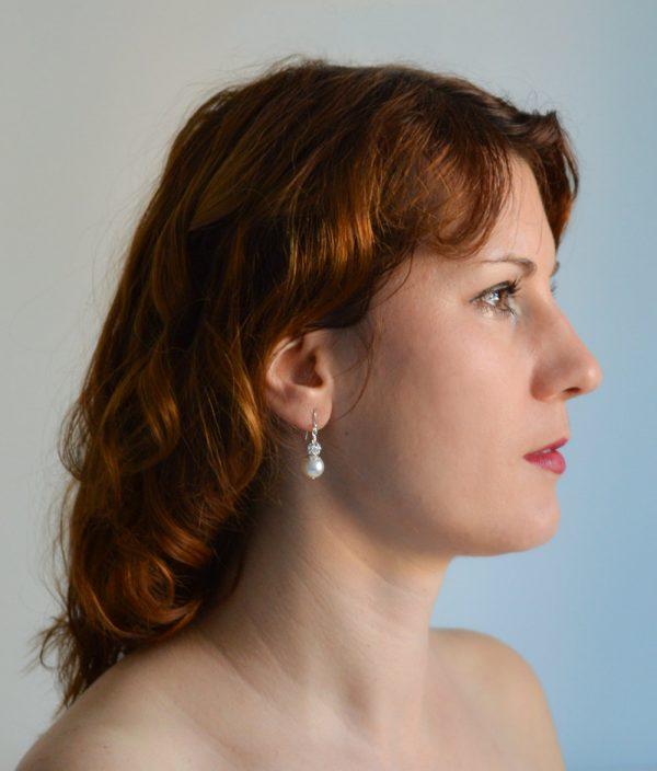 boucles oreilles perle swarovski strass 4