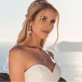 Boucles d'oreilles mariage longues pendantes