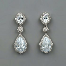 boucles oreilles mariage cristal swarovski elegantes