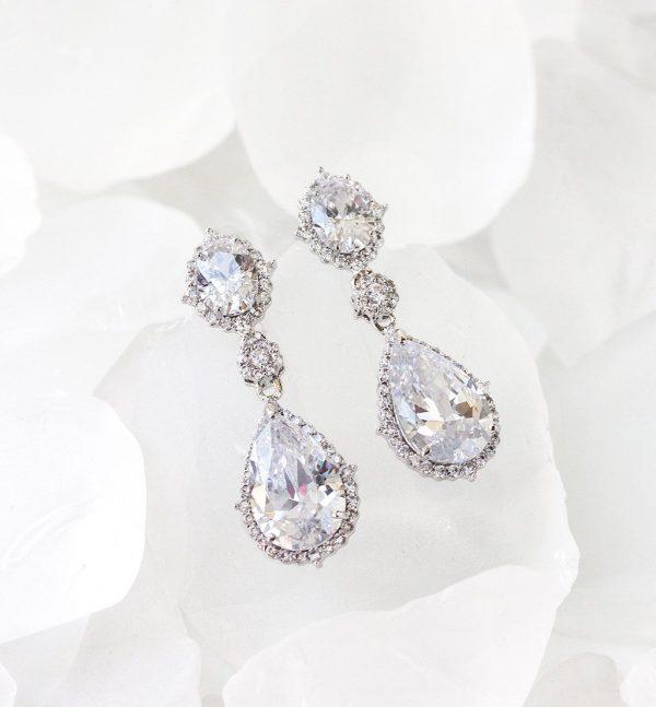boucles oreilles mariage cristal swarovski elegantes 6
