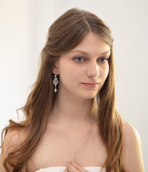boucles d'oreilles mariage perles naturelles vintage aurelia 2