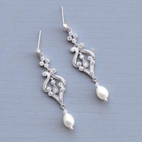 boucles d'oreilles mariage perles naturelles vintage aurelia 3