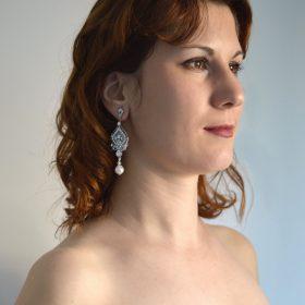 boucles d'oreilles mariée vintage chandelier 2