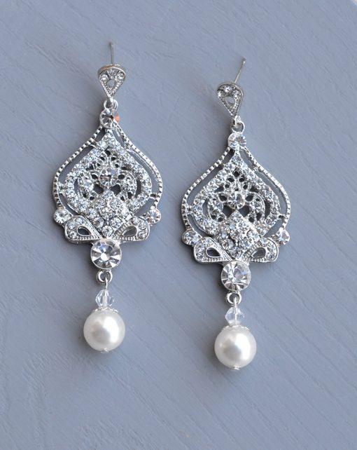 boucles d'oreilles mariée vintage chandelier